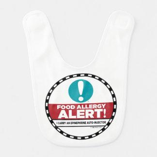 Babero de la alarma de la alergia alimentaria