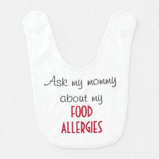 Babero de la alergia alimentaria