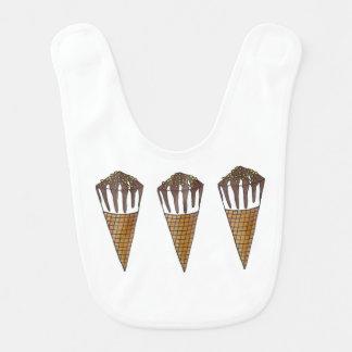 Babero de nuez del cono del cacahuete del helado