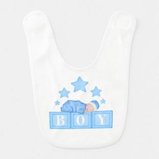 Babero del azul del bebé