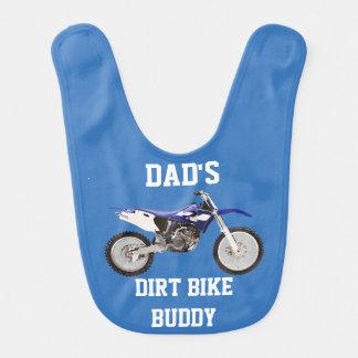 Babero del bebé azul del compinche de la bici de