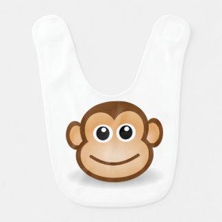 Babero del bebé de la cara del mono de Brown