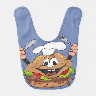 Babero del bebé de la hamburguesa