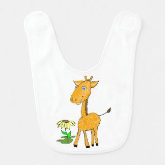 Babero del bebé de la jirafa del bebé