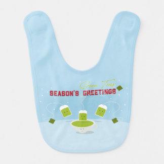 Babero del bebé de los tés verdes el | de la