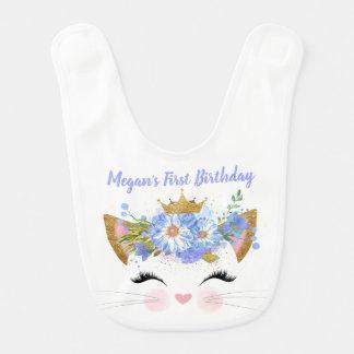 Babero del bebé de princesa Kitty First Birthday