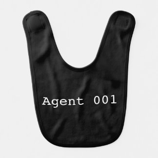 Babero del bebé del agente 001