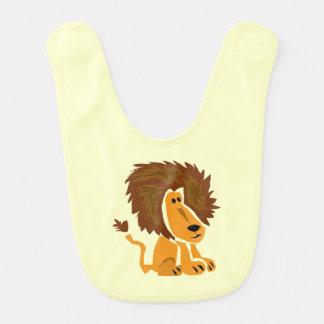 Babero del bebé del arte del león