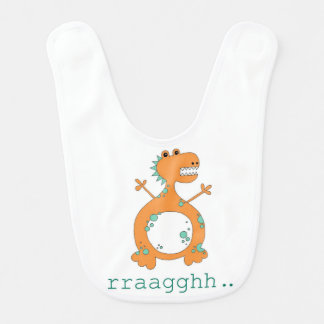Babero del bebé del dinosaurio