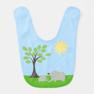 Babero del bebé del elefante