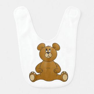 Babero del bebé del oso de peluche del dibujo