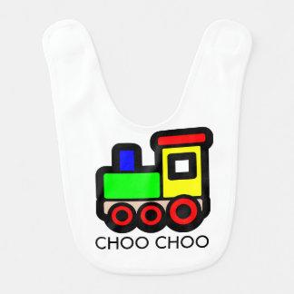 Babero del bebé del tren de Choo Choo