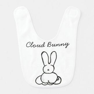 Babero del conejito de la nube