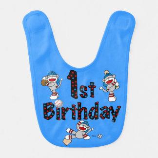 Babero Babero del cumpleaños del béisbol del mono del cal