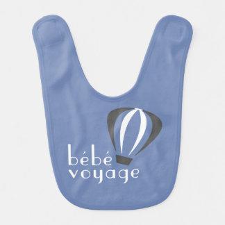Babero del logotipo del viaje de Bebe