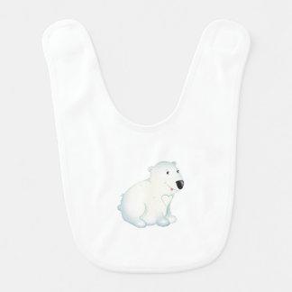 """Babero del oso polar del """"pequeño del bebé sello"""