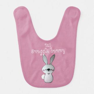 Babero del rosa de la niña del conejo de conejito