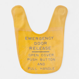 Babero Diseño del lanzamiento de la salida de emergencia