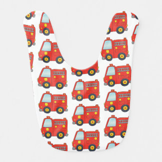 Babero Diseño del modelo del Firetruck de la diversión