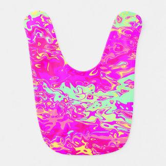 Babero Diseño Marbleized brillante de los colores
