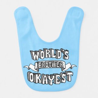 Babero divertido del bebé azul del texto de