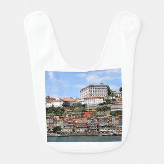 Babero Edificios históricos y río, Oporto, Portugal