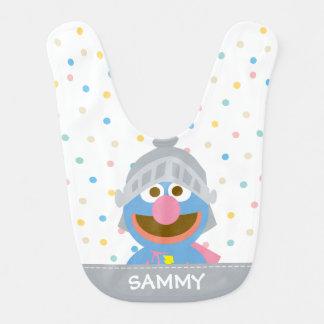 Babero El bebé Grover en la armadura el   añade su nombre