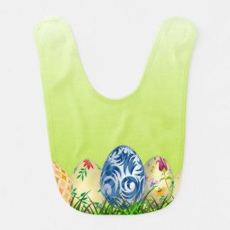 Babero El bonito modeló los huevos de Pascua en verde de