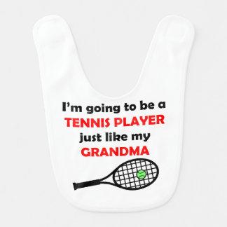 Babero El jugador de tenis tiene gusto de mi abuela