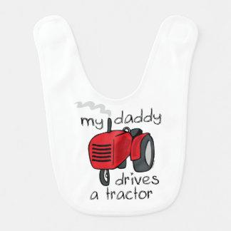Babero El papá conduce un tractor