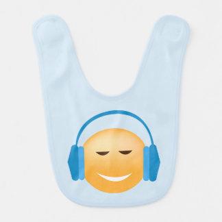 Babero Emoji con los auriculares