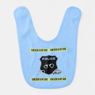 Babero Escena del crimen de la policía