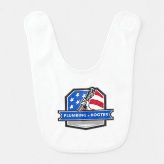Babero Escudo de la bandera de los E.E.U.U. de la llave