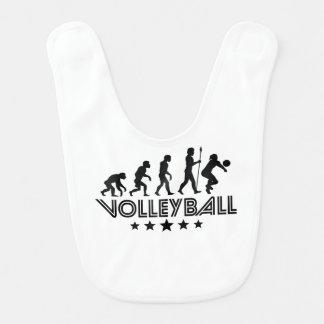 Babero Evolución retra del voleibol