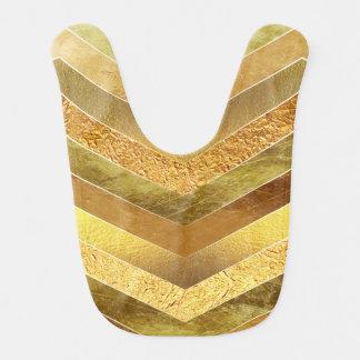 Babero Falsos galones de moda de la hoja de oro