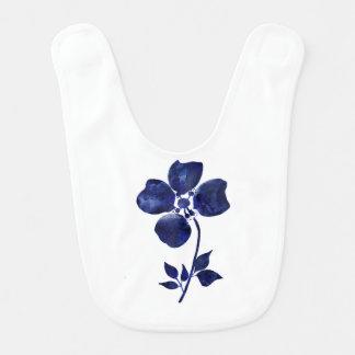 Babero Flor azul