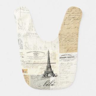 Babero francés de las Ephemeras de París del vinta