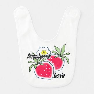 Babero Fresas del amor