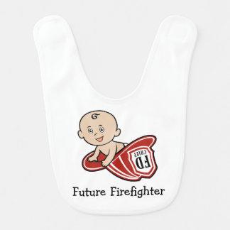 Babero futuro del bebé del bombero