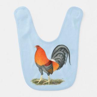 Babero Gallo del rojo azul del gallo de pelea