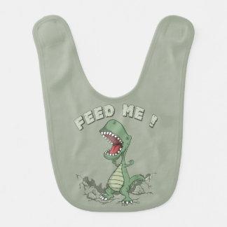 Babero hambriento del bebé del dinosaurio