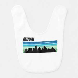 Babero Horizonte retro de Miami