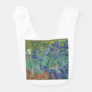 Babero Iris de Vincent van Gogh que pintan el trabajo de