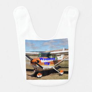 Babero Las mujeres vuelan: aviones de ala alta