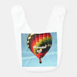 Babero Las mujeres vuelan: globo del aire caliente
