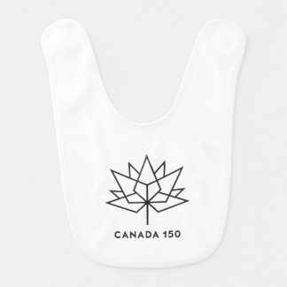 Babero Logotipo del funcionario de Canadá 150 - esquema
