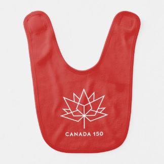 Babero Logotipo del funcionario de Canadá 150 - rojo y