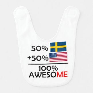 Babero Medio americano a medias sueco