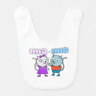 Babero Mia y Mio