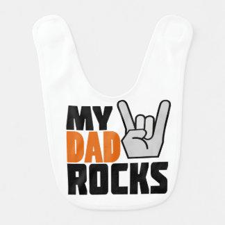 Babero ¡Mis rocas del papá!